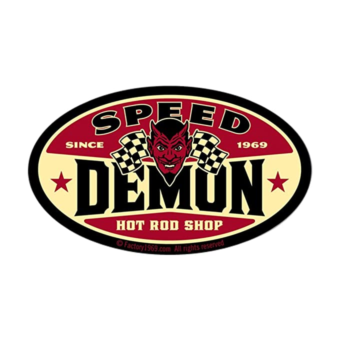 Amazon com cafepress speed demon 003 sticker oval oval bumper sticker euro oval car decal home kitchen
