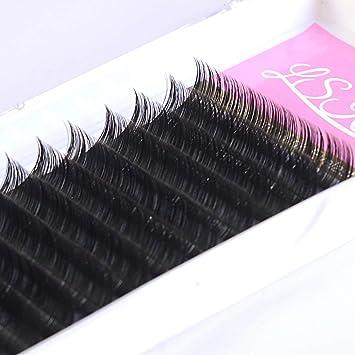 6b9a4c04fc5 Amazon.com : LSKeenon Faux Mink Volume Lashes 0.03mm D Curl Individul Eyelash  Extensions Professional Semi Permanent Lash Extensions 8-15mm Mixed Tray :  ...