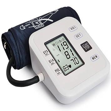 LQUIDE Tensiometro De Brazo Digital,Puños Grandes, Pantalla LCD Retroiluminada, Esfigmomanómetro Digital Completamente Automático: Amazon.es: Deportes y ...