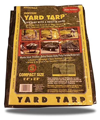 Yard Tarp with Drawstring-Poly Rope in Hem- Best Multi-Purpose Cover (6x6)