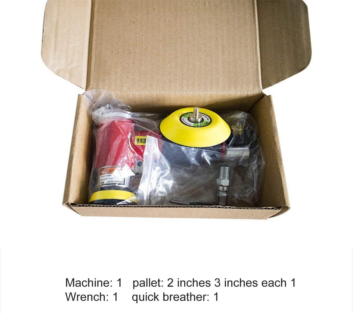 Cosye Mini Exzentrischer Luftwinkelschleifer Schleifer Polierer Elezentrische pneumatische Polierschleifmaschine mit 2 Zoll 3 Zoll Schleifkissen