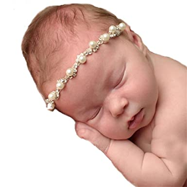 Udobuy Super Cute Delicate Baby Girls Newborn Toddler Elastic Headbands  Hairband Headwear With Pearl Rhinestone Flower  Amazon.in  Clothing    Accessories ef3894c7d7d