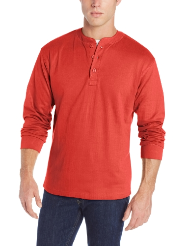 Mountain Khakis Men's Trapper Henley, Engine Red, Large