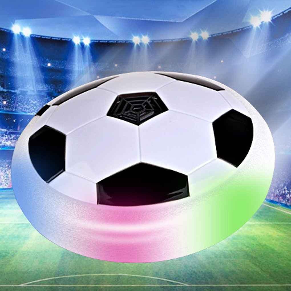 Republe Musica Lampeggiante Calcio Giocattoli della Sfera della Luce LED colorato Disc Air Power Soccer Indoor Football Librarsi
