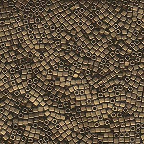 Metallic Dark Bronze Matte Tiny 1.8mm Square Cube Miyuki Japanese Glass Beads 8 Gram Tube