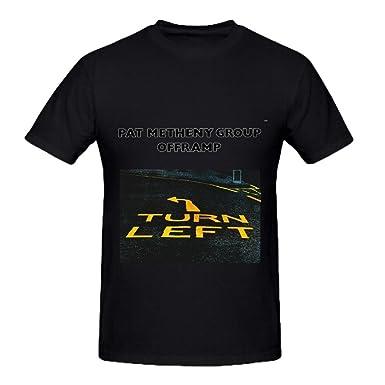 7fc9ee0dea63 Amazon.com  Pat Metheny Group Offramp Soundtrack Men Crew Neck ...