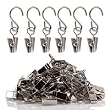 Teenitor Party Light Hanger, Gutter Hangers for Lights, Curtain Clips Hanging Clamp Hooks Hanger Clips for Curtain Photos String Party Lights Awning Curtain Home Decoration Art Craft 60pcs