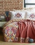 Putisca Orange Double Duvet Jacquard Blanket Set - Your Comforter Should Enter into Duvet Cover - Duvet Cover : 200x220 cm Bed Sheet : 240x260 cm Pillow Sham: 50x70(4 Pcs.)Jacquard Blanket : 220x240cm