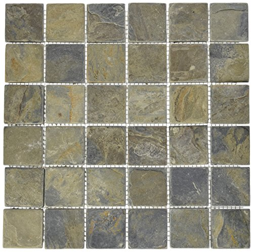 Epoch Tile CR2X2 2x2 California Rustic Tumbled Slate