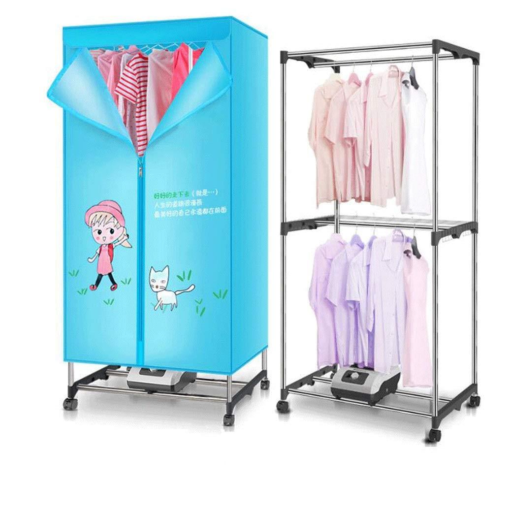Secadora doméstica mute secadora de ahorro de energía de doble capa secadora de gran capacidad bebé secado especial ropa de aire caliente de secado rápido secador de múltiples funciones (Color : A) ZhangZongBinHome