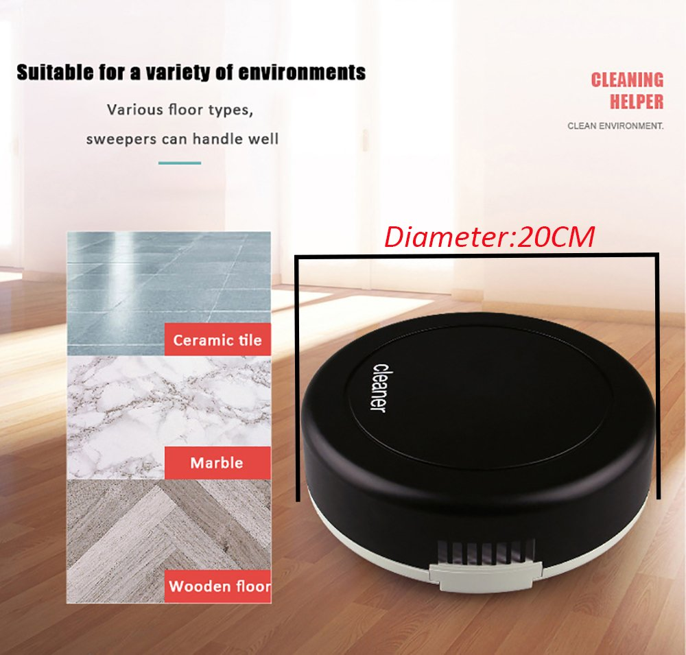 Smart Robot Vacuum Cleaner Auto Floor Dust Dirt Cleaning Robot 360-degree Rotation Sweeping Machine Home Cleaning Tool by HSTYAIG (Image #2)