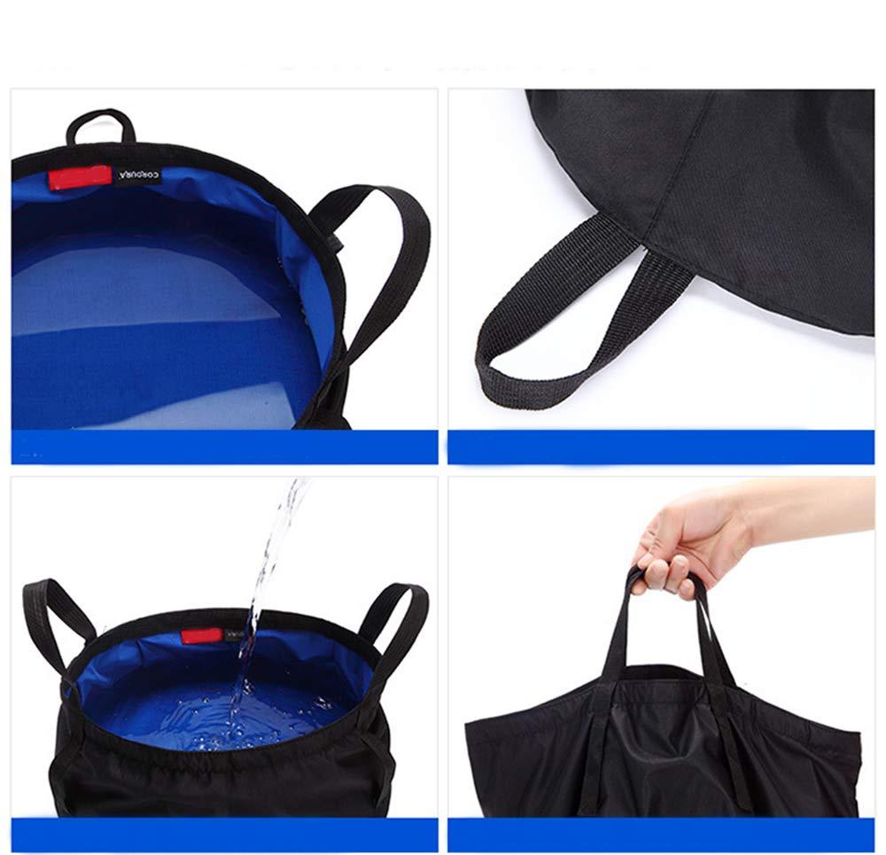 12L Holzsammlung/® Seau Pliable Sac /à Eau Portable pour Camping Pique-Nique Caravane ou Plage