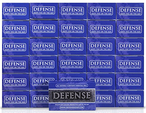 Defense Soap 4 Ounce Bar (Pack of 30) - 100% Natural and Herbal Pharmaceutical Grade Tea Tree Oil and Eucalyptus Oil Helps Wash Away Ringworm, Jock Itch, Dry Skin, Dandruff, Acne, Psoriasis, Yeast, and Athlete's Foot by Defense Soap