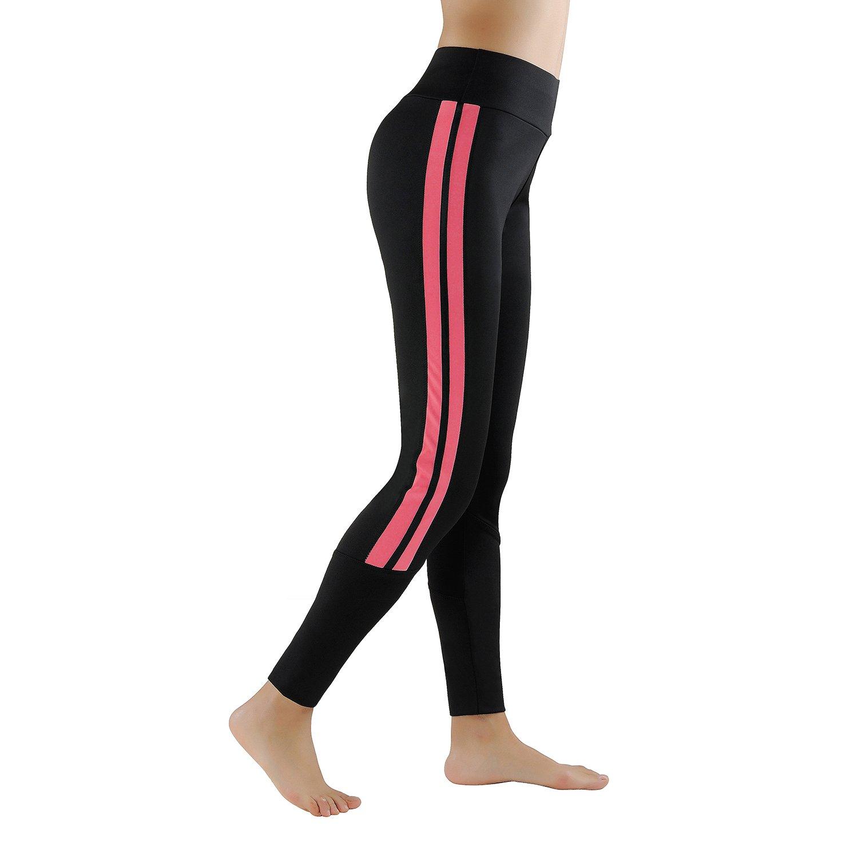 GoVIA Leggings Donne Pantaloni di corsa Pantaloni d/´allenamento permeabile d/´area pantaloni di sport Fitness 4138
