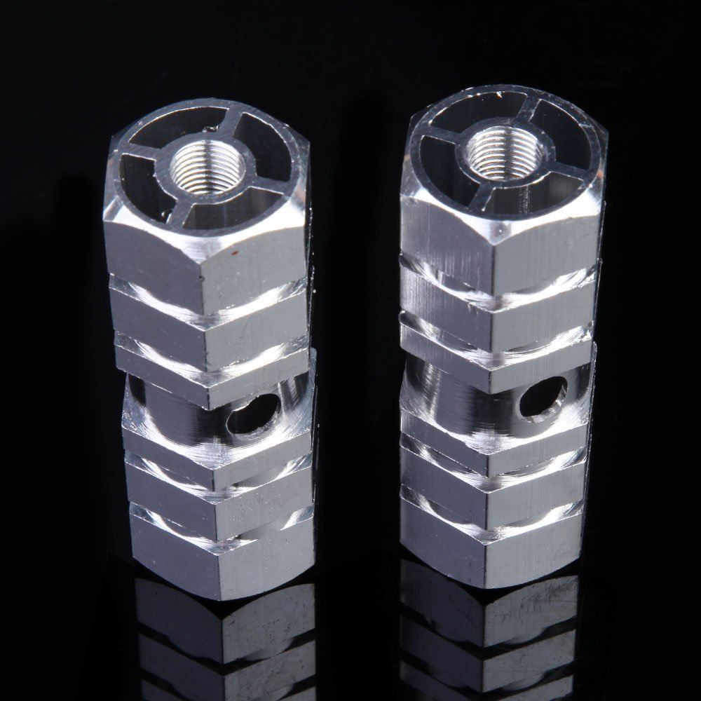 Domybest 2pcs Axles Aluminum Alloy Stunt Foot Pegs Pedal for BMX Bicycle Cycling