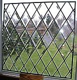 Full Beveled Diamond Stained Glass Diamond Window - Clear Leaded