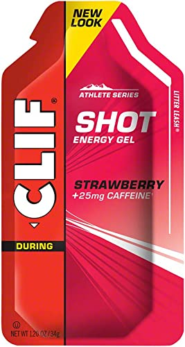 Clif Shot Gel Strawberry, 24 – 1.2 oz packets, 28.8 oz.