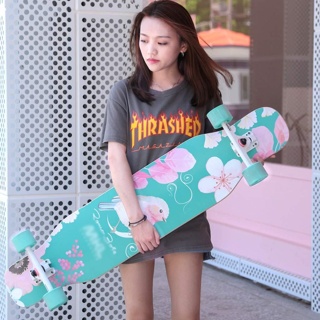 KYCD Skateboard Longboard Allrad Skateboard Anfänger Jungen und Mädchen Pinsel Street Dance Board Teenager Professioneller Roller (Farbe   B) B07PZ3RDNV Longboards Luxus