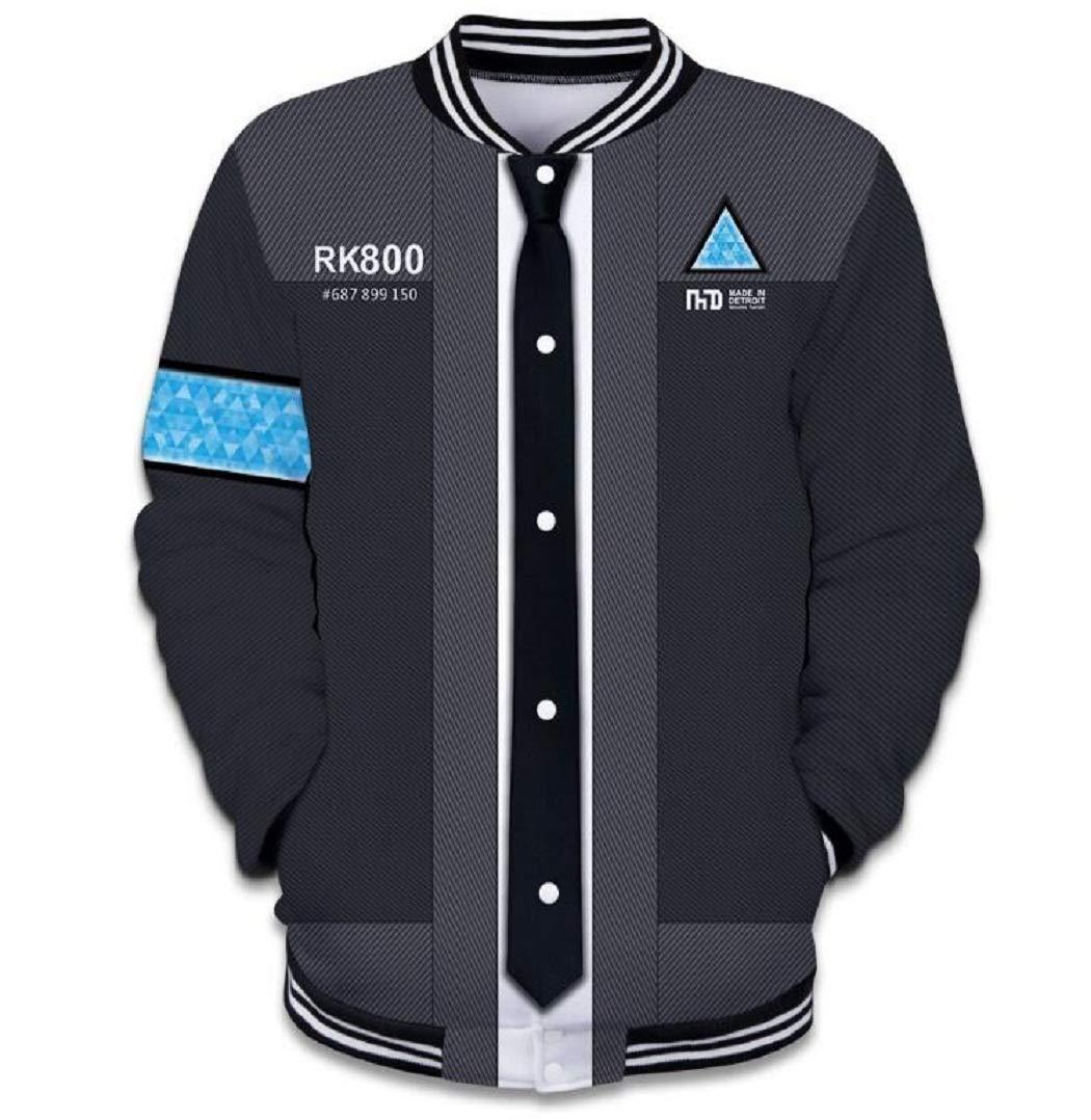 Dahee Popular Game Become Human Kara Connor Cosplay Baseball Uniform (XL, Style-A)