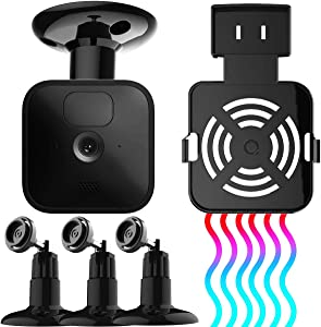 Cooling Wall Mount for Blink Camera System with Blink Sync Module Outlet Mount, 3PACK 360 Degree Adjustable Mount for All-New Blink Outdoor/Indoor Blink XT2 Home Security Camera System (Black)