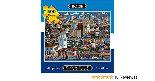 Amazon Com Jigsaw Puzzle Boise 500 Pc By Dowdle Folk Art Toys