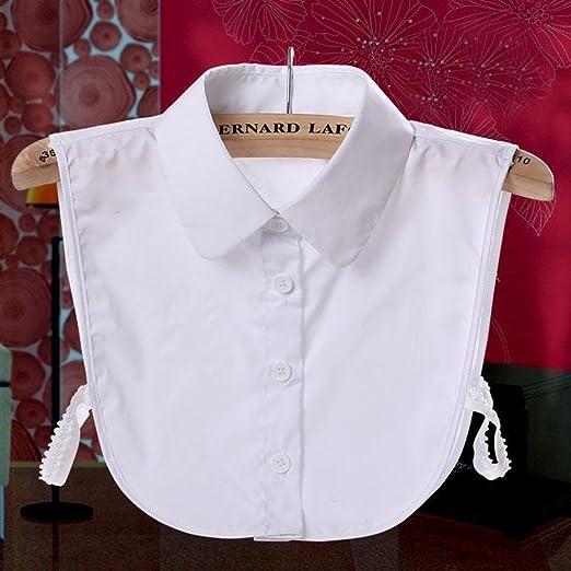 Xuniu Cuello Falso de Las Mujeres, Encaje, Collar de Gargantilla de Solapa Desmontable, Mitad Camisa, Blusa Superior: Amazon.es: Hogar