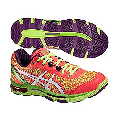 Asics Gel Netburner Pro 12 Netball Shoes - Pink/Yellow - UK 11