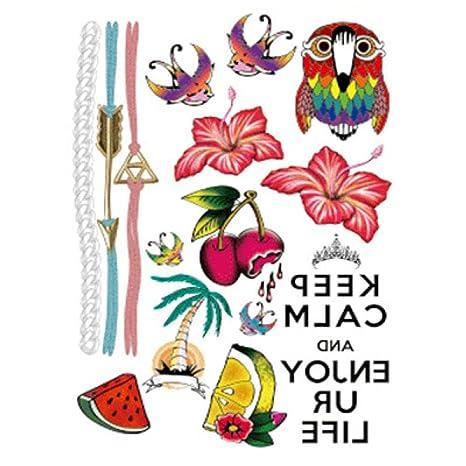 Flor del brazo pegatinas de tatuaje tatuaje impermeable tatuaje ...