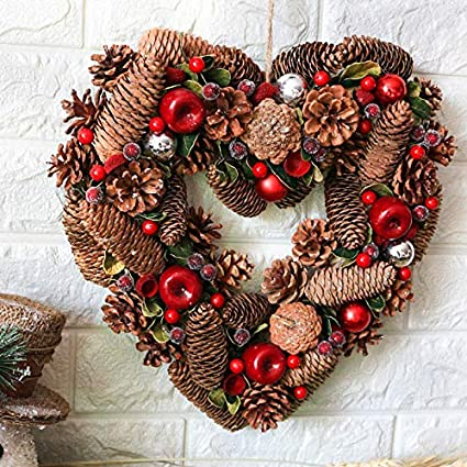Christmas Heart Wreath.Amazon Com Qiandong1 Christmas Decorations For Home