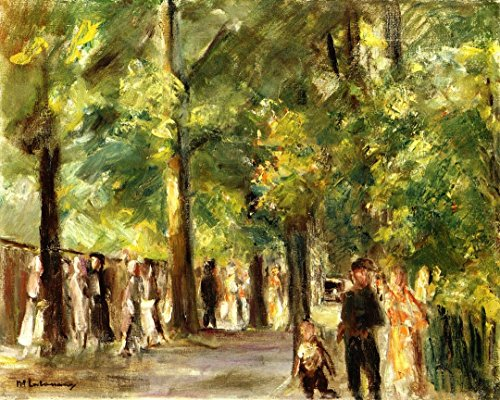 cutler-miles-grosse-seestrasse-inwannsee-mit-spaziergangern-by-max-liebermann-hand-painted-oil-on-ca