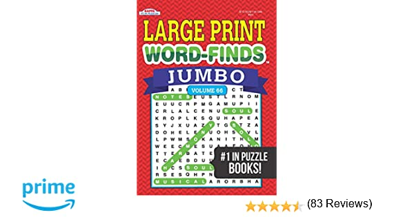 Jumbo Large Print Word-Finds Puzzle Book-Word Search Vol 66: Kappa ...