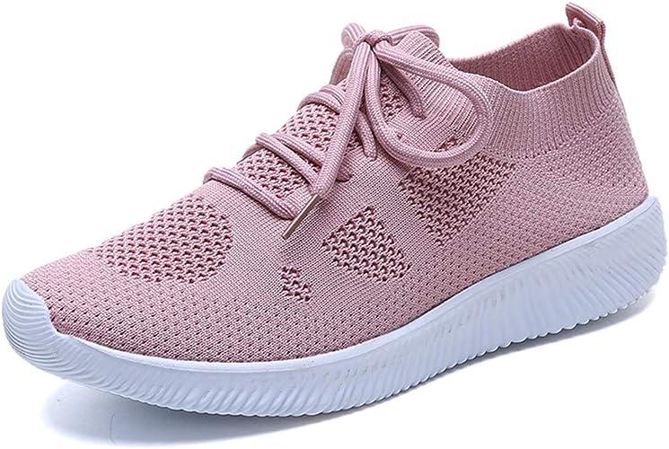 Damen Laufschuhe Turnschuhe Atmungsaktiv Sneakers Flache Freizeit Sportschuhe 43