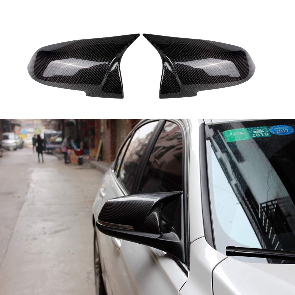 Wing Mirror Covers Wing Mirror Cap Car Rearview Mirror Cover//Caps Made in Black Premium ABS for 3 Series F30 F34 F31 1 Series F20 2 Series F22 4 Series F32 F33 F36 F87 M2 X1 Series E84 LCI 1 Pair
