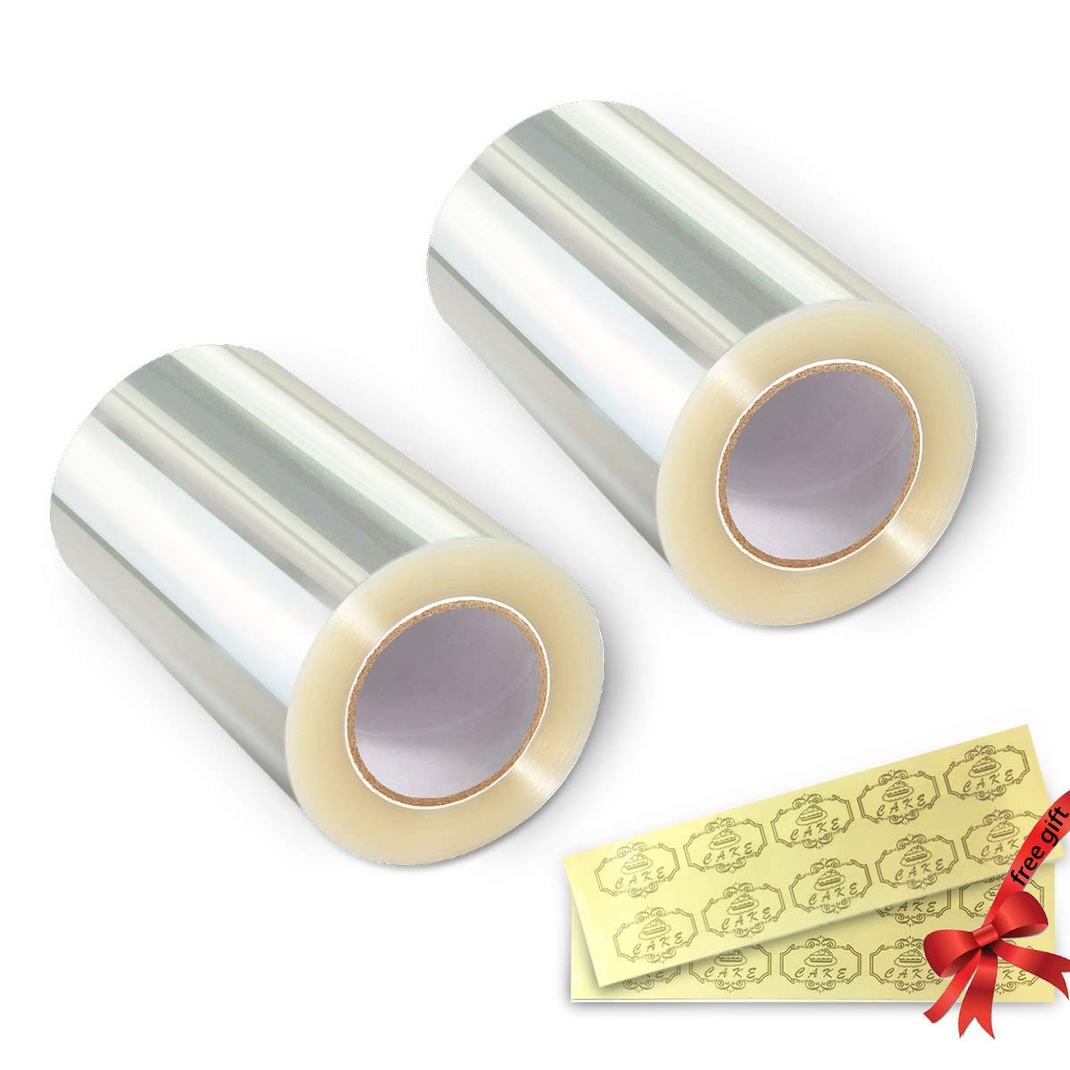Cake Collars 10cm x 10m x 125micron - Vindar Clear Polyester Plastic Strips, Transparent Polyester Plastic Roll, Mousse Cake Collar for Chocolate Mousse Baking, Cake Decorating
