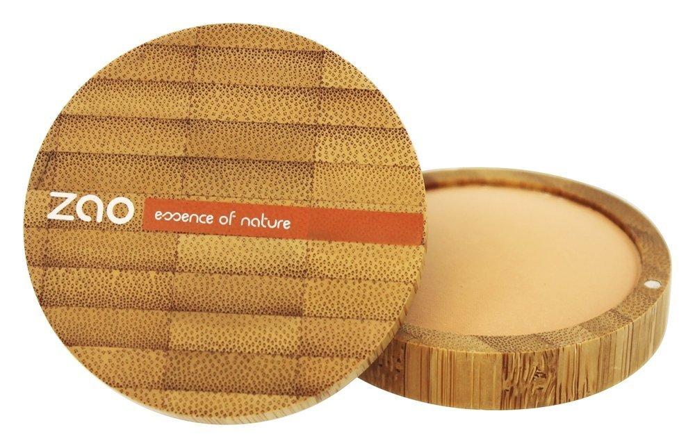 ZAO Mineral Cooked Powder 346 beige apricot Bronzer Bräunungspuder matt, in nachfüllbarer Bambus-Dose (bio, Ecocert, Cosmebio, Naturkosmetik) Cosm' etika France