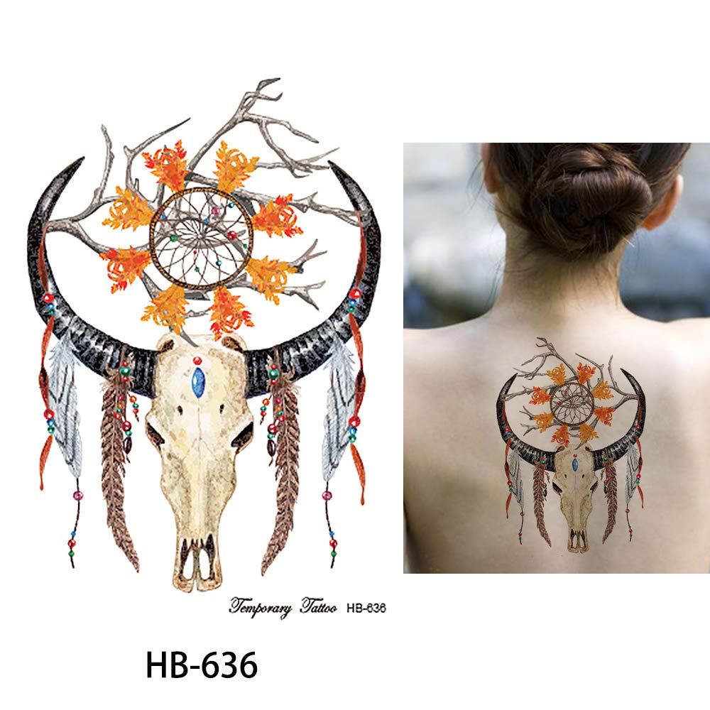 Toro Atrapasueños Tatuaje Tatuajes Coloridos hb636 Tatuajes de ...
