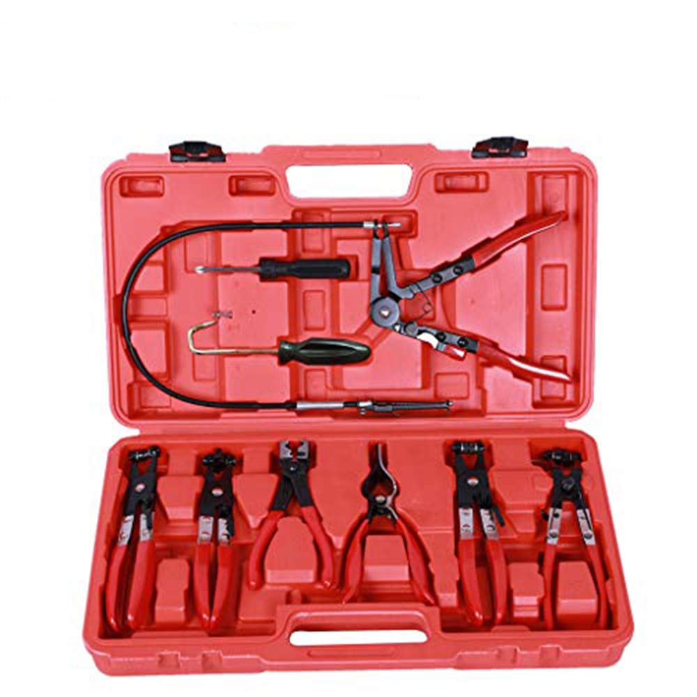 Hose Clamp Clip Plier Set,9PCS Swivel Jaw Flat Angled Band Automotive Tool,Shipped from the USA