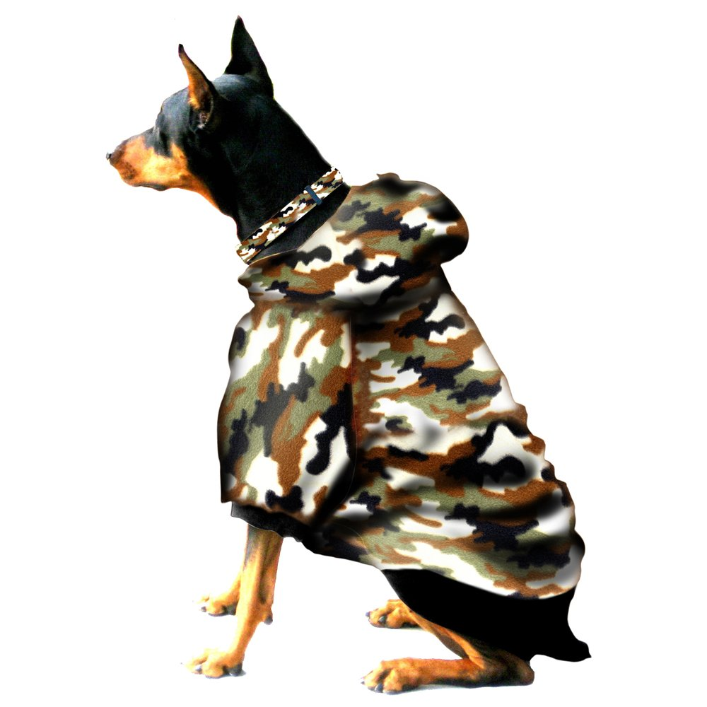 Boxer Doberman Dog Sweatshirt for Large Dog (60 to 90 Pounds) Camouflage