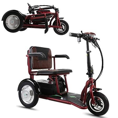MMRLY Triciclo para Adultos, Triciclo eléctrico Plegable ...