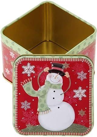Demiawaking - Caja de Dulces de Metal para Navidad, Dulces, Galletas, Dulces, Regalos, Cajas de Almacenamiento, Adornos para Navidad, decoración de Fiesta: Amazon.es: Hogar