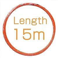 Akuoly Guia pasacables Alambre retráctil de 15 m con muelle de guía, ideal para la colocación de cables, color naranja