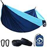 Camping Hammock Double with 2 Tree Straps Made of Portable Lightweight Nylon Parachute for Backpacking,Travel,Beach,Yard and