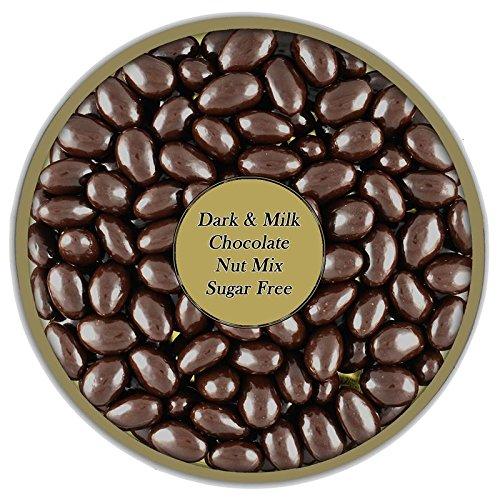 Dark and Milk Chocolate covered Nut Mix sugar Free