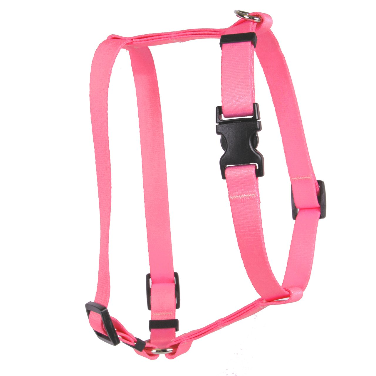 Yellow Dog Design Light Pink Simple Solid Roman Style H Dog Harness, Large