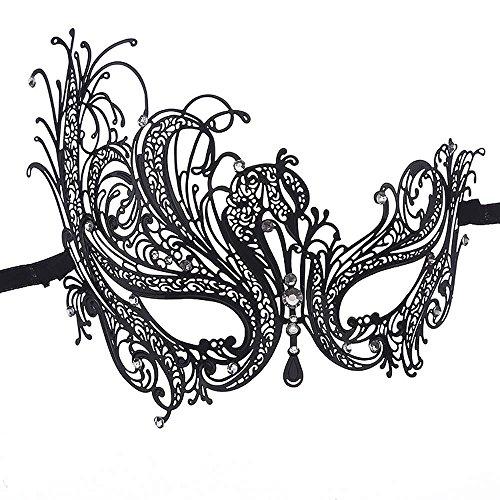 - WeiYun Masquerade Ball Party Mask Accessories,Metal Laser Cut High-Grade Diamond Mask,Sexy Elegant Prom Props Dress Up,Rhinestone Venetian Mardi Fancy Eye Mask,Carnival Half Face Mask,1 Pcs