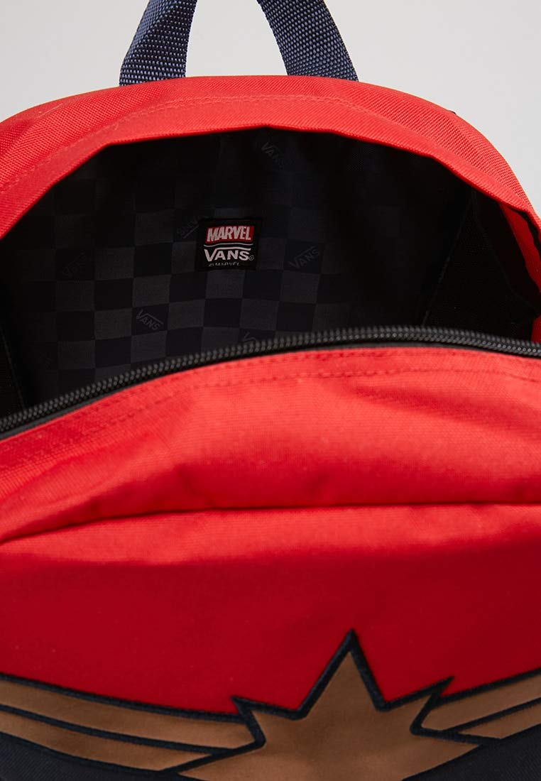 Vans CAPTAIN MARVEL Backpack Racing Red Schoolbag VN0A3QXFIZQ Vans MARVEL Bags