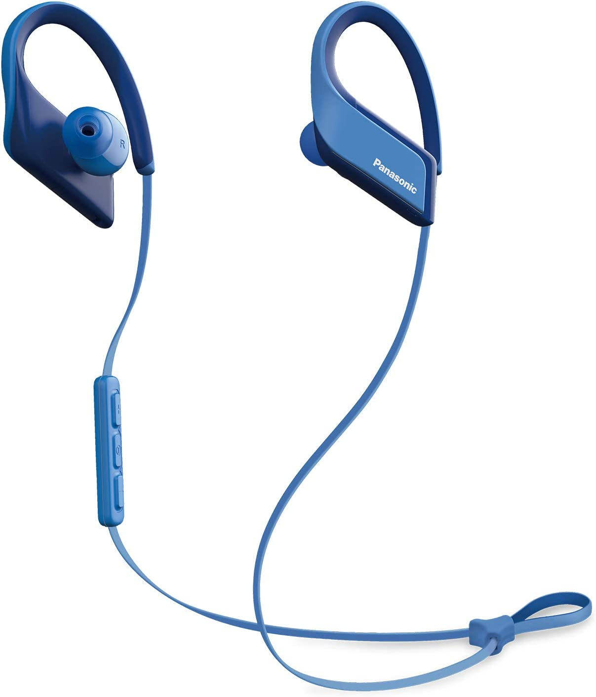 PANASONIC Wings Sport Headphones are Ultra-Light Wireless Bluetooth Sport Earbud 3D Flex Sport Clips with Microphone and Call/Volume Controller, IPX5 Rated Water-Resistant - RP-BTS35-A (Blue)
