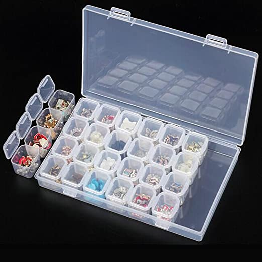 Jewelry Organizer Beads Tools Slots Nail Storage Art Case Box