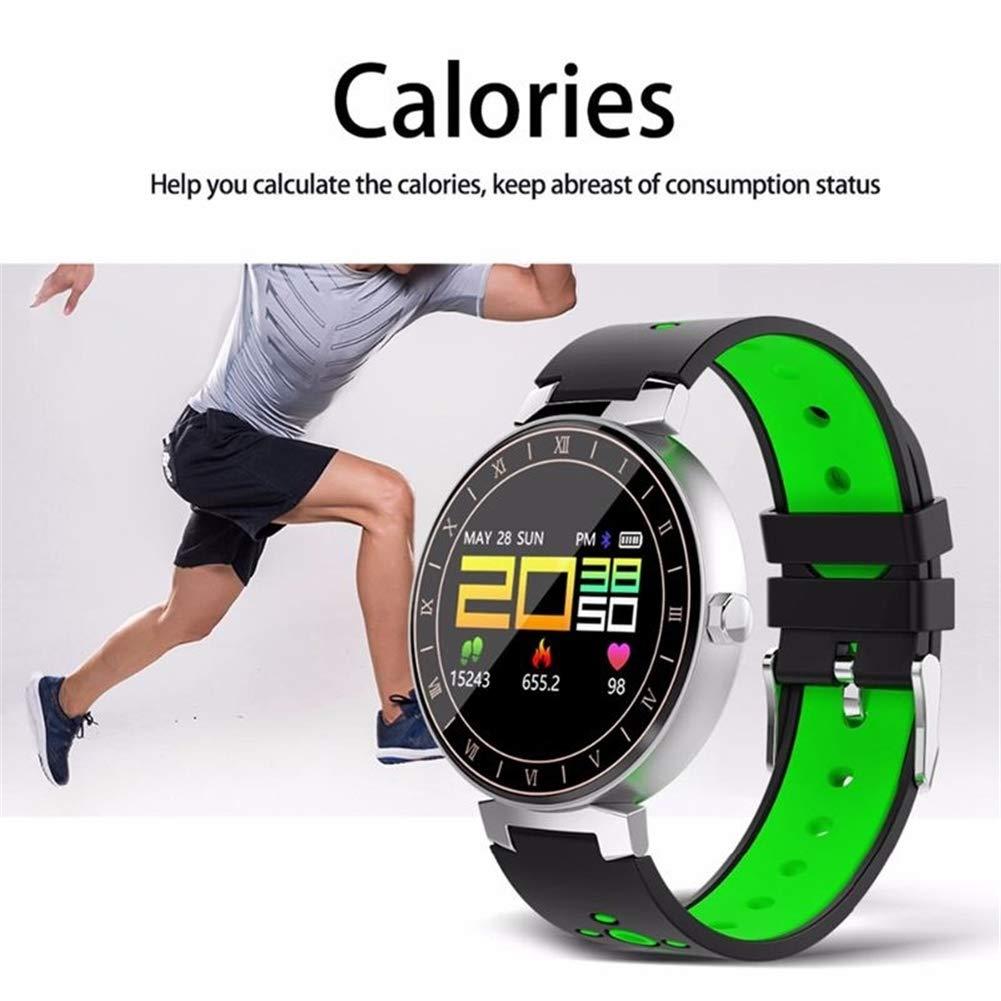 Konnison-09 Smart Watch Men, Smart Band Presión Arterial Presión Fitness Rastreador de Reloj IP68 Pantalla a Color Impermeable Pulsera Podómetro Deportivo ...