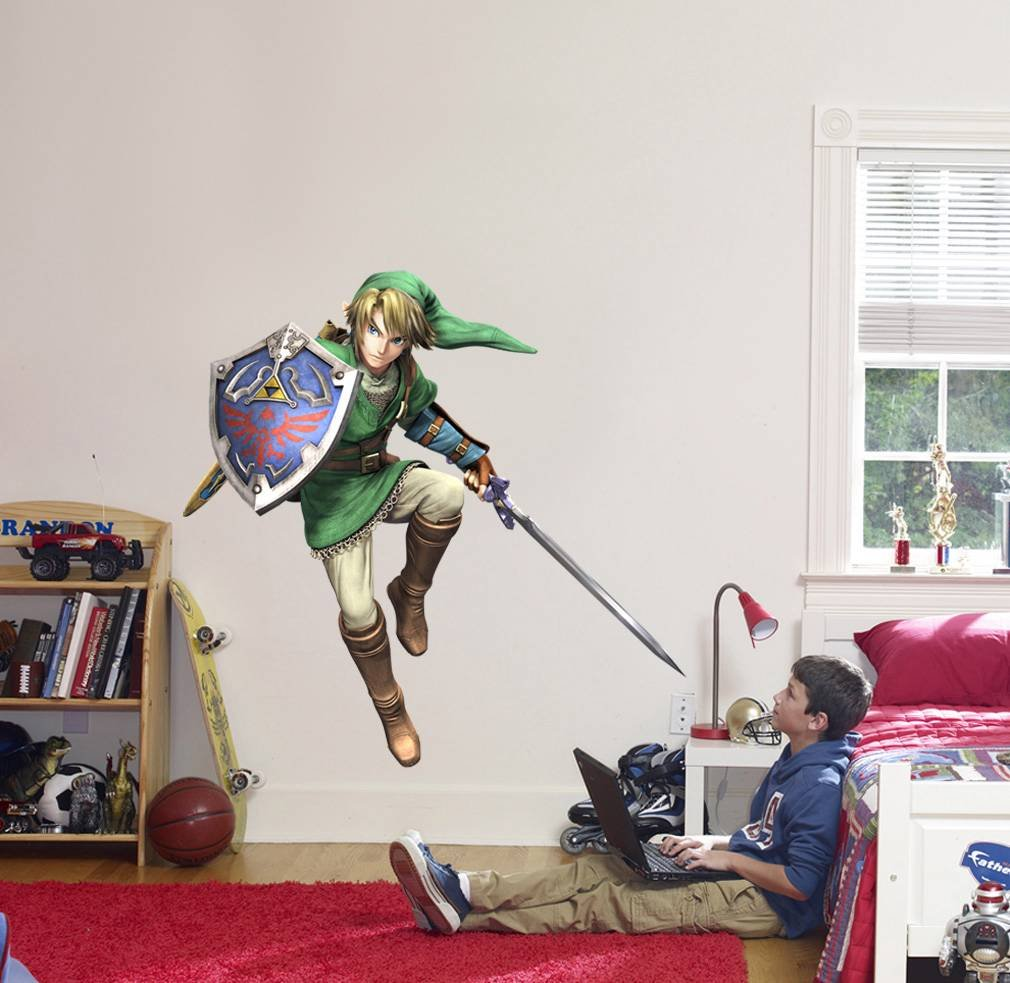 amazon com link decal the legend of zelda wall sticker home decor amazon com link decal the legend of zelda wall sticker home decor art c633 large home kitchen